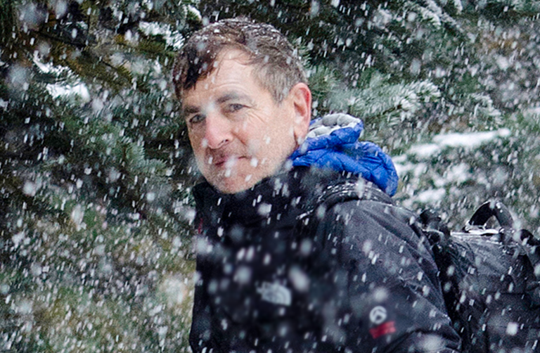 Mark in the snow