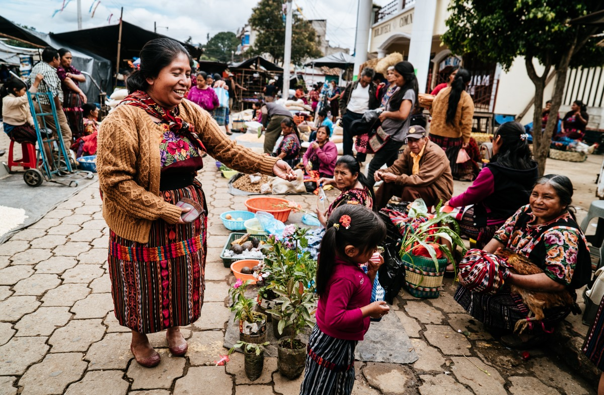 The market at Chichicastenango