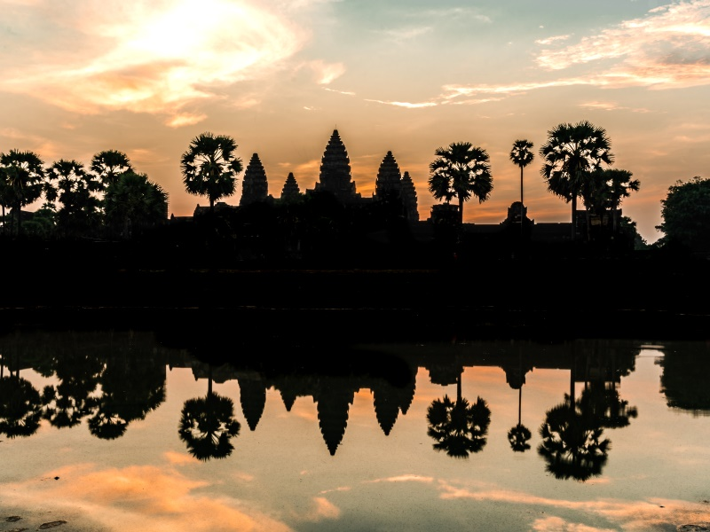 The celebrations kick off at sunrise at Angkor Wat as the first few thousand people gather for Khmer New Year.