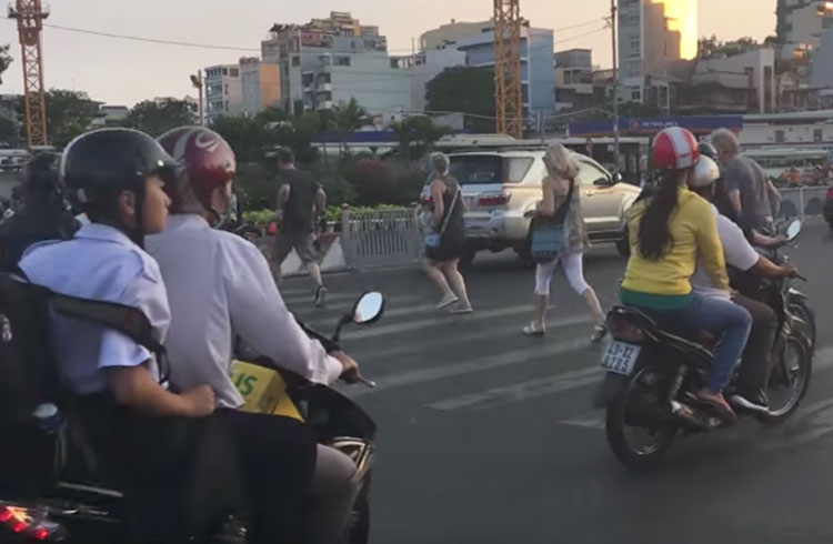 WATCH: How to Cross Vietnam's Notoriously Busy Streets