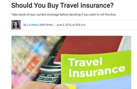 """Should you buy travel insurance?"" Asks USNews"