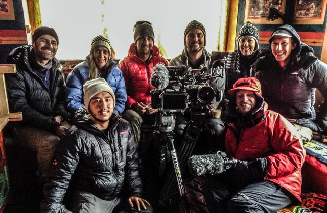 Sherpa film crew in Nepal