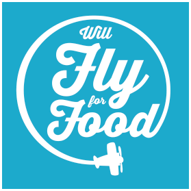Will Fly for Food logo