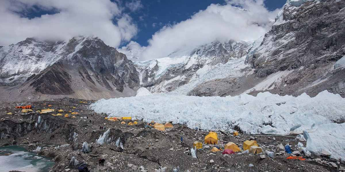 There it is, Everest Base Camp.